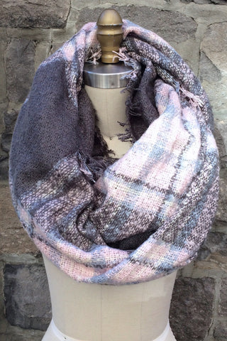 Changing Horizons Blanket Scarf in Blush