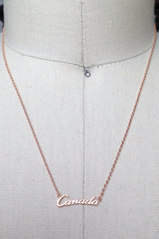 Canada Day Necklace in Rose Gold or Gold or Silver
