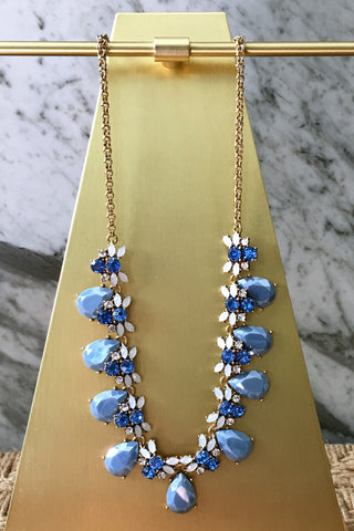 Samantha Necklace in Blue