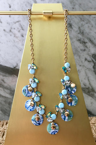 Miley Necklace in Blue