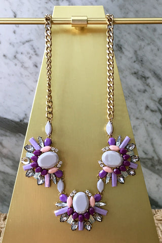 Brandy Necklace in Purple