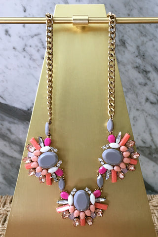 Brandy Necklace in Pink
