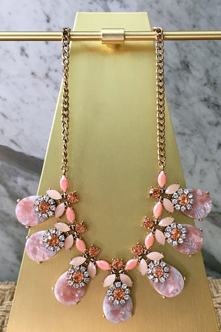 Whitney Necklace in Pink