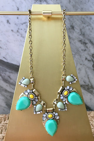 Christina Necklace in Mint