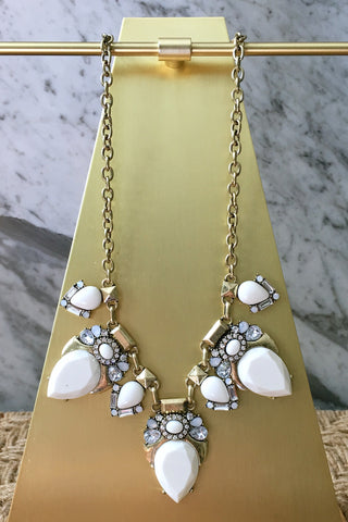 Christina Necklace in White
