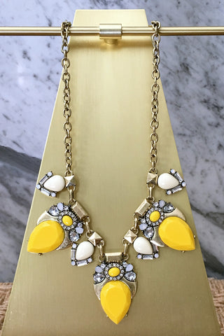 Christina Necklace in Yellow