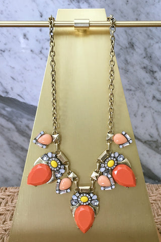 Christina Necklace in Coral