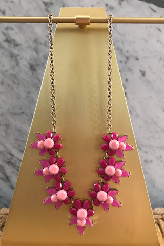 Fiona Necklace in Pink