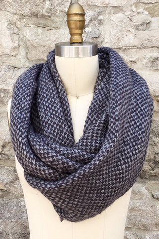 Dylan Knit Infinity Scarf in Iron/Foggy Grey