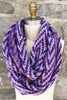 Zig Zag Eternity Scarf in Dusty Plum/Lavender