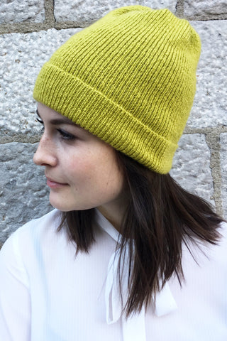 Montreal Fine Rib Beanie in Extra Virgin