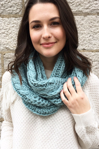 Bainbridge Eternity Scarf in Ocean