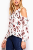 Jack By BB Dakota Grace Floral Top in Rose