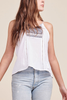 Jack By BB Dakota Clarice Tank in White