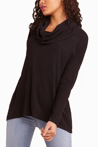 Jack by BB Dakota Kiss Me Cowl Neck in Black