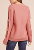 Jack by BB Dakota Catrina Cable Knit in Rose