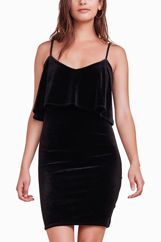 Jack by BB Dakota Vicky Velvet Dress in Black