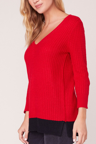 Jack by BB Dakota Two City Sweater in Red