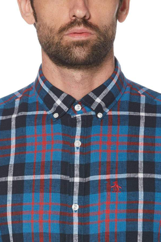 Original Penguin Orson L/S Shirt in Blue