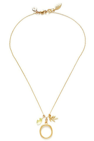 "18K Gold Initial Necklace - ""O"""