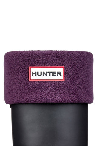 Hunter Polar Fleece Boot Socks in Dark Plum