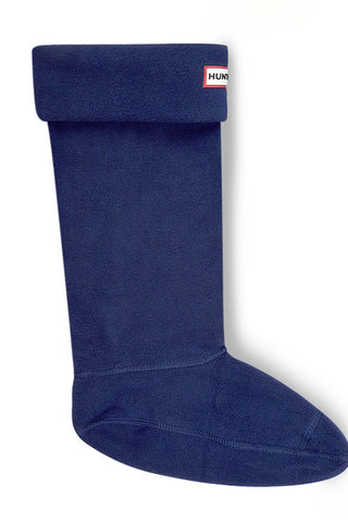 Hunter Polar Fleece Boot Socks in Navy