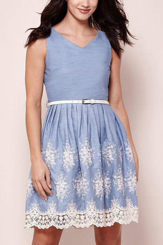 Yumi Guildford Dress in Chambray