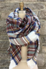 Bisous Blanket Scarf in Brown