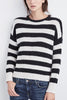 Velvet Milk & Cookies Sweater in Stripe