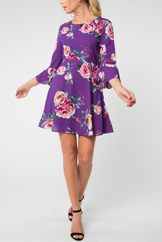 Sedona Dress in Purple