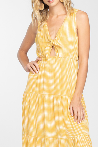 The Scrabble Dress in Jaune