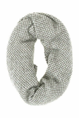 Dylan Knit Infinity Scarf in Gravel/Snow