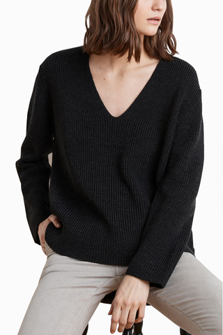 Velvet Corrina Knit Sweater in Charcoal