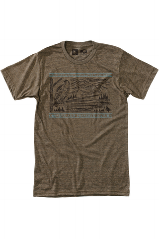 Frontier Tee in Brown