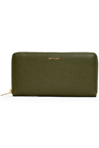 Matt & Nat Central Wallet in Leaf