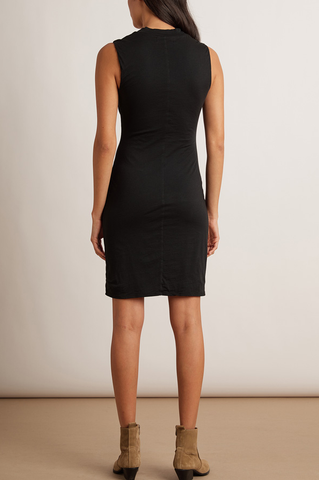 Velvet Body Glove Dress in Black