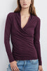 Velvet Still Loving You Top in Plum