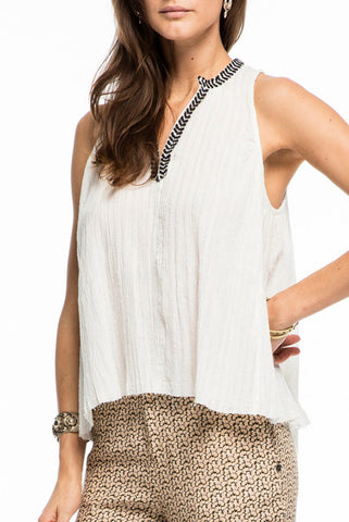 Maison Scotch Emily Tank in White