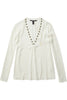 Maison Scotch One At A Time Top in Cream