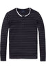 Scotch & Soda Easy Catch L/S Tee in Navy