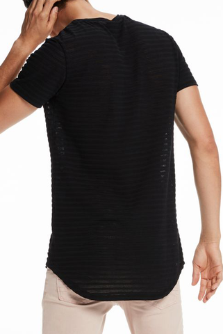 Scotch & Soda Not Going Home Tee in Black