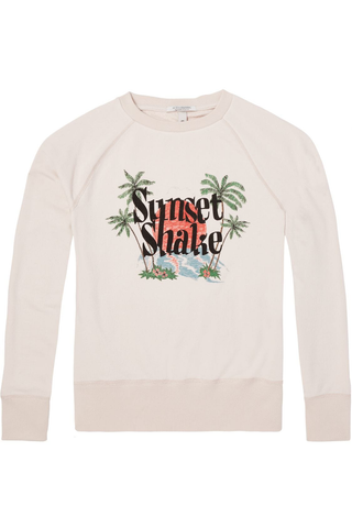 Maison Scotch Sunset Shake Sweater in Ivory
