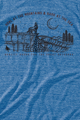 Howl Tee in Blue