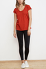 Velvet Paint A Picture Tee in Rouge