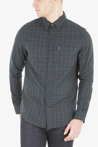 Ben Sherman Tall Order L/S Shirt in Green