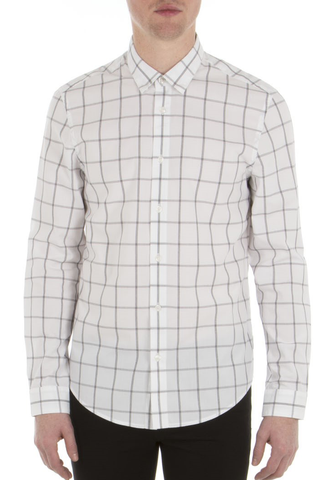 Ben Sherman Our City L/S Shirt in White