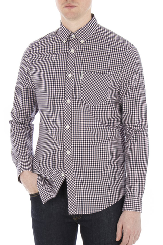 Ben Sherman Lasting Moment L/S Shirt in Pink