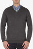 Ben Sherman After The Fire Merino Sweater in Grey