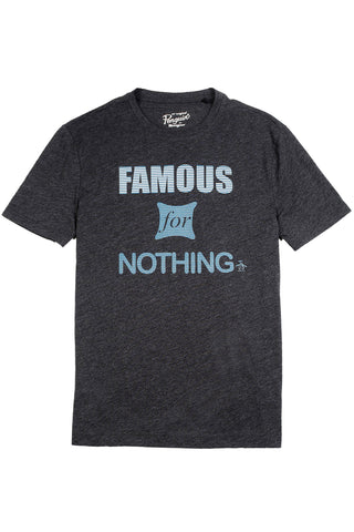 Original Penguin Famous Tee in Coal
