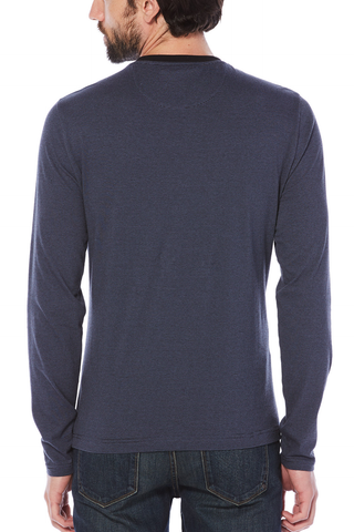Original Penguin Quintin L/S Tee in Navy